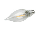 Bulbrite 776858 LED2CA10/27K/FIL/E12/3 Dimmable 2.5W 2700K Decorative Filament LED Bulb, Enclosed Fixture Rated