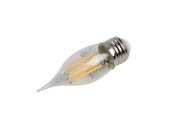 Bulbrite 776875 LED4CA10/27K/FIL/E26/3 Dimmable 4.5W 2700K Decorative Filament LED Bulb, Enclosed Fixture and Wet Rated