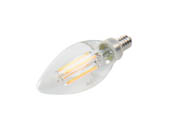 Bulbrite 776863 LED4B11/30K/FIL/3 Dimmable 4.5W 3000K Decorative Filament LED Bulb