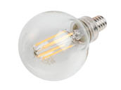 Philips Lighting 478750 4.5G16.5/PER/827/CL/G/E12/DIM Philips Dimmable 4.5W 2700K G-16.5 Filament LED Bulb, Outdoor Rated