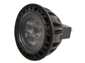 Brilliance LED MR16-5-3000-30 Brilliance Dimmable 5W 8V-25V 3000K 30 Degree LED MR16, Enclosed Rated