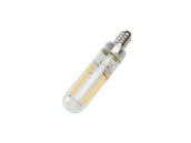Bulbrite 776880 LED2T6/27K/FIL/E12/3 Dimmable 2.5W 2700K T6 Filament LED Bulb, Enclosed Fixture Rated