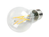 TCP FA19D6027EC Dimmable 8W 2700K A19 Filament LED Bulb, Enclosed Fixture Rated