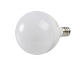 90+ Lighting SE-350.029 Dimmable 5W 2700K 92 CRI G-16.5 Frosted Globe LED Bulb, E12 Base, JA8 Compliant