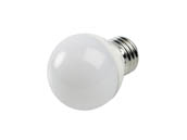 90+ Lighting SE-350.031 Dimmable 5W 2700K 92 CRI G-16.5 Frosted Globe LED Bulb, E26 Base, JA8 Compliant