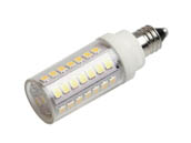 Bulbrite 770629 LED5E11/27K/120/D Dimmable 5W 120V T3 2700K LED Bulb, E11 Base, Enclosed Rated