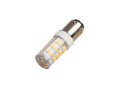 Bulbrite 770619 LED4DC/30K/D Dimmable 4.5W 120V 3000K T5 LED Bulb, BA15d Base, Enclosed Rated