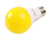Bulbrite 774000 LED9A19/YB Non-Dimmable 9.5 Watt Yellow A19 LED Bug Light Bulb