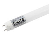 "C-Lite By Cree C-T848-A-32W-40K-B1 14W 48"" Double-Ended T8 4000K Glass LED Bulb, Ballast Bypass"