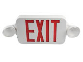 MaxLite 14101488 EXC-RW Maxlite LED Dual Head Exit/Emergency Sign With LED Lamp Heads, Battery Backup, Red Letters