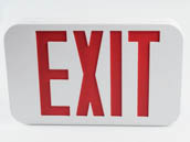 MaxLite 14101486 EX-RW Maxlite LED Exit Sign with Battery Backup, Red Letters, Title 20 Compliant