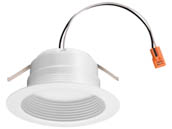 "Lithonia Lighting 262E0R 4BEMW LED 50K 90CRI M6 Lithonia E-Series Dimmable 10 Watt 4"" 5000K Recessed Downlight, Baffle Trim, White"