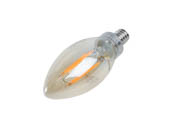 Philips Lighting 537621 4.5B11/VIN/820/E12/CL/GL/DIM Philips Dimmable 4.5W 2000K Decorative Vintage Filament LED Bulb, Outdoor Rated