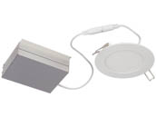 "Philips Lighting FDL4R07930TE1W Philips Dimmable 11.6 Watt 4"" Round 3000K Flat LED Downlight"