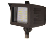 "MaxLite 14100144 FMS20UW-50BKTPC Maxlite 50 Watt HID Equivalent, 20 Watt 5000K LED Flood Light Fixture With 1/2"" Threaded Knuckle & Photocell"