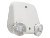 Lithonia Lighting 263X54 ERE T M24 Lithonia ERE Series Indoor, Damp Location Twin Remote Head, White