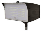 "MaxLite 14100148 FMM50UW-50BKTPC Maxlite 150 Watt HID Equivalent, 50 Watt 5000K LED Flood Light Fixture With 1/2"" Threaded Knuckle & Photocell"