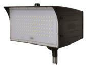 "MaxLite 14100150 FMM80UW-50BKTPC Maxlite 250 Watt HID Equivalent, 80 Watt 5000K LED Flood Light Fixture With 1/2"" Threaded Knuckle & Photocell"