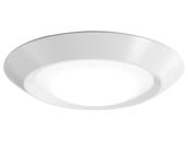 "Juno Lighting 251P6J 6RLS G2 07LM 30K 90CRI 120 FRPC WH M6 Juno Basics 10W, 120V, 6"" LED Dimmable Surface Mount Fixture, 3000K, 90 CRI, 700 Lumens, White"