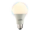 Bulbrite 195120 SL8WA19/WC/FR/1P Solana WiFi RGB and White Color Adjusted A19 LED Bulb, No Hub Needed, Title 24 Compliant