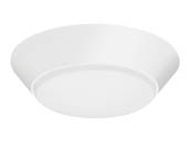 "Lithonia Lighting 223XC3 FMML 7 830 WL M6 Lithonia Versi Lite 7"" Dimmable 10W, 120V LED Flush Mount Fixture, 3000K, Wet Location, White"