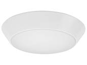 "Lithonia Lighting 228AYT FMML 13 830 Lithonia Versi Lite 13"" Dimmable 28W, 120V LED Flush Mount Fixture, 3000K, White"