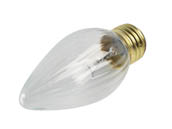 Topaz Lighting 77485 (Safety) 60F15 (Safety) Safety Coated Topaz CXL 60 Watt, 130 Volt F15 Clear Fiesta Decorative Bulb