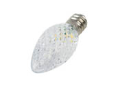 Green Watt GCH-C7-RM-CW 0.5W Cool White C7 Holiday LED Bulb with Faceted Lens, Outdoor Rated