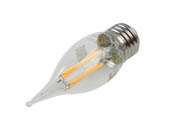 Philips Lighting 549550 3.3BA11/PER/927-922/CL/G/E26/WGX 1FB T20 Philips Dimmable 3.3W Warm Glow 2700K-2200K 90 CRI Decorative LED Bulb, E26 Base, Wet Rated, Title 20 Compliant