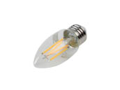 Philips Lighting 549345 5.5B11/PER/927-922/CL/G/E26/WGX 1FB T20 Philips Dimmable 5.5W Warm Glow 2700K-2200K 90 CRI Decorative LED Bulb, E26 Base, Wet Rated, Title 20 Compliant