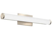 "Lithonia Lighting 2525KG FMVCCLS 24IN MVOLT 30K35K40K 90CRI BN M6 Lithonia Contemporary Cylinder Profile 24"" Dimmable LED Vanity Fixture, Brushed Nickel, 3000/3500/4000K, 120-277V"