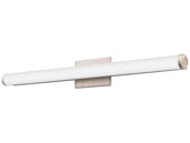 "Lithonia Lighting 2525KL FMVCCLS 36IN MVOLT 30K35K40K 90CRI BN M4 Lithonia Contemporary Cylinder Profile 33"" Dimmable LED Vanity Fixture, Brushed Nickel, 3000/3500/4000K, 120-277V"