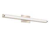 "Lithonia Lighting 2526WV FMVCALS 36IN MVOLT 30K35K40K 90CRI BN M4 Lithonia Contemporary Arrow Profile 33"" Dimmable LED Vanity Fixture, Brushed Nickel, 3000/3500/4000K, 120-277V"
