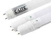 "Bulbs.com 34387 5000K AlwaysOnBundle 2 Combo Pack - Case of C-Lite 14W 48"" T8 5000K LED Ballast Bypass Bulbs and Two Matching Aleddra Always On T8 LED with Battery Backup"