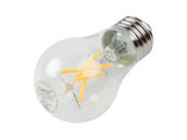 Satco Products, Inc. S29874 5A15/CL/LED/E26/27K/ES/120V Satco Dimmable 5W 2700K A15 Filament LED Bulb