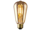 Archipelago Lighting LTST19V35022MB Archipelago Dimmable 3.5W 2200K ST19 Vintage Filament LED Bulb, Enclosed Fixture and Outdoor Rated