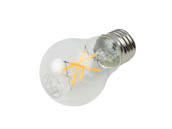 Satco Products, Inc. S21100 5A15/CL/LED/E26/3K/ES/120V Satco Dimmable 5W 3000K A15 Filament LED Bulb