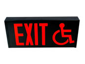 Exitronix CT700E-WB-BL-STANDARD/ADA Steel Exit Sign Featuring Wheelchair Accessibility Symbol, Black