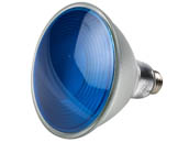 Philips Lighting 469072-2 13.5PAR38/PER/BLUE/ND/ULW/G/120V Philips Non-Dimmable 13.5W Blue 40° PAR38 LED Bulb, Enclosed Fixture and Outdoor Rated