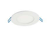 "MaxLite 102887 SDLR413CSWJ Maxlite Dimmable 13 Watt 4"" Round Color Adjustable 2700K/3000K/4000K/5000K 90 CRI Flat LED Downlight, Title 24 Compliant"