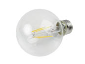 TCP FG25D4030EC Dimmable 4W 3000K G25 Filament LED Bulb, Enclosed Fixture Rated