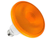 Sunlite 80555-SU PAR38/LED/12W/FL35/O 12 Watt Sea Turtle Safe And Wildlife Lighting Certified PAR38 Orange LED Lamp