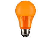 Sunlite 80147-SU A19/3W/O/LED 3 Watt Sea Turtle and Wildlife Certified Orange A-19 LED Lamp, Non-Dimmable