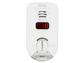 Kidde KN-COP-DP-10YH Hallway Plug-In Carbon Monoxide Alarm With Sealed Lithium Battery Backup, Digital Display, and Escape/Night Light