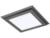 "Satco Products, Inc. 62-1171 18W/LED/1X1/FLUSH/3K/GM Satco 18 Watt Gray Blink Plus 12""x12"" Surface Mount Fixture For Closets and Ceilings, 3000K"
