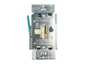 Lutron Electronics AYCL-253P-IV Lutron Ariadni 250W, 120V LED/CFL Slide Dimmer and Toggle On/Off 3-Way Switch, Ivory