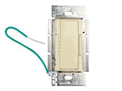 Lutron Electronics MACL-153M-IV Lutron Maestro 150W, 120V LED/CFL Rocker Dimmer and Tap On/Off 3-Way Switch, Ivory