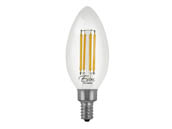 Euri Lighting VB10-3050cec-4 Dimmable 5.5W 5000K 90 CRI Decorative LED Bulb, E12 Base, Enclosed Fixture and Wet Rated, JA8 Compliant
