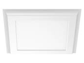 "Satco Products, Inc. 62-1381 18W/LED/1X1/FLUSH/4K/WH Satco 18 Watt White Blink Plus 12""x12"" Surface Mount Fixture For Closets and Ceilings, 4000K"
