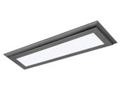 "Satco Products, Inc. 62-1175 22W/LED/7""X25""/FLUSH/3K/GM Satco Blink Plus 22 Watt 7""x25"" Surface Mount Fixture For Ceiling and Closets, 3000K, Gray Finish"